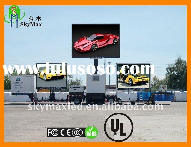 Mobile Trailer Truck Car 16mm Rental LED Advertising Screen