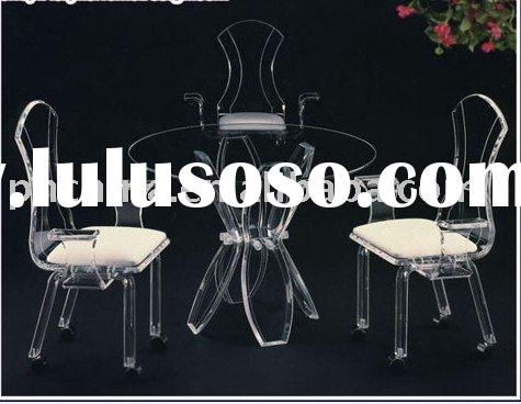 Modern Acrylic Dining Furniture SF-51,Acrylic Table And Chair