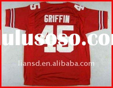 NCAA Jersey Ohio State Buckeyes Archie Griffin #45 red Football jersey 100% sewn on original jersey