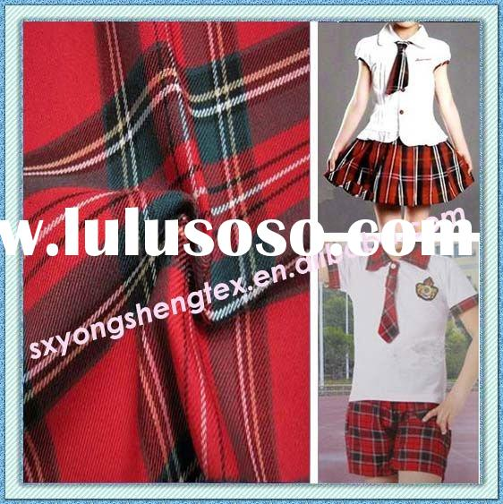 New Collection Yarn Dyed Plaid Check School Uniform Fabric