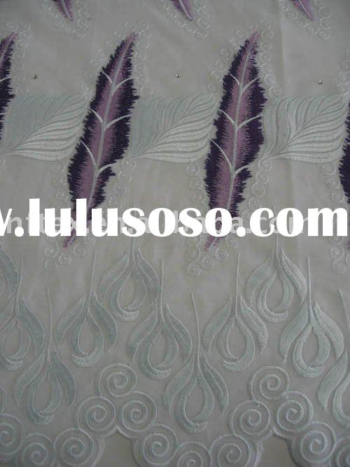 New designs! High quality African Lace,Swiss Voile Lace DF035