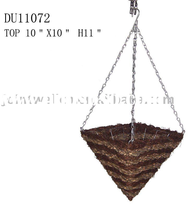 Outdoor Square Cone Hanging planter Flower pots
