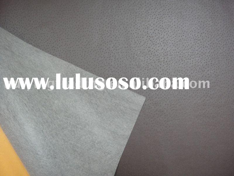 PU leather use for shoes lining with non woven backing