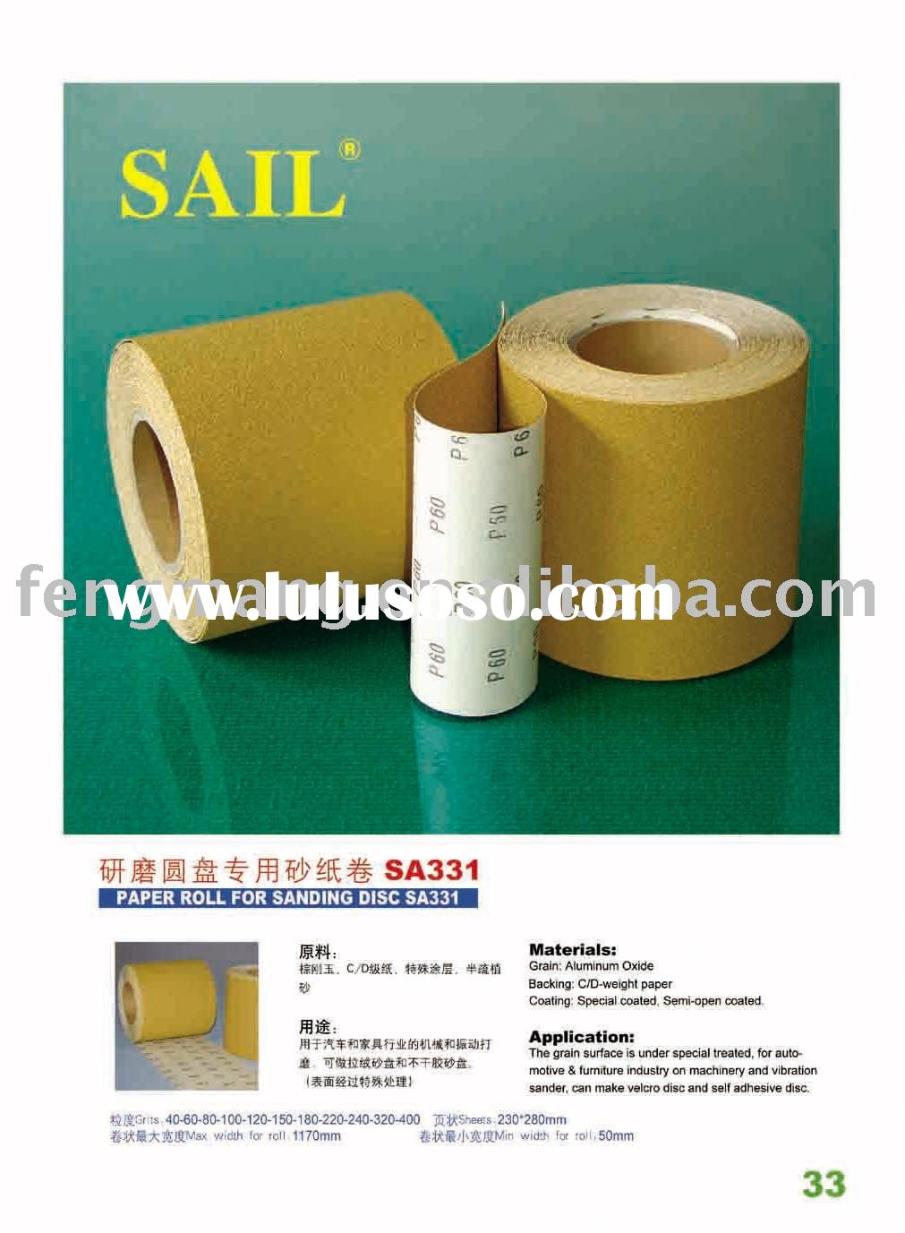Paper roll for abrasive disc SA331