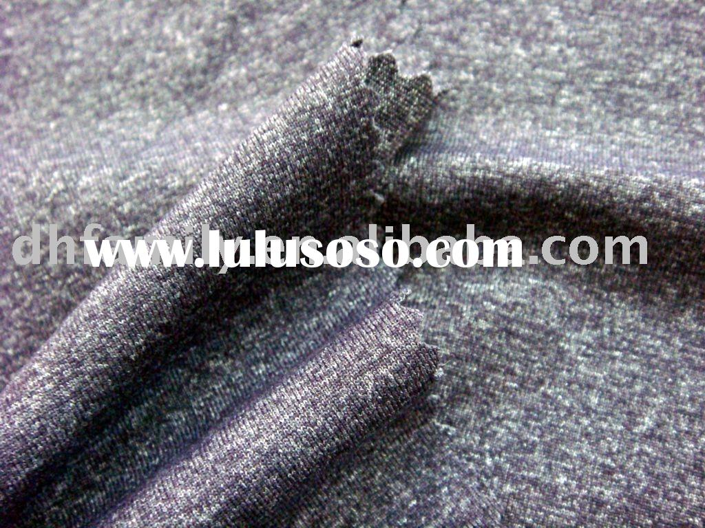 Polyamide/Polyester/Spandex cotton type heather-effect fabric