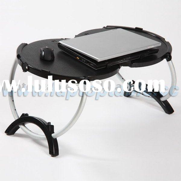 Portable laptop desk in round structure