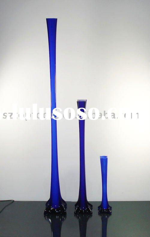 ROYAL BLUE EIFFEL TOWER GLASS FLOWER VASE FOR WEDDING CENTERPIECE DECORATION