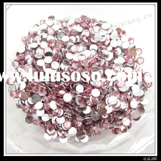 Round Clear Purple Flat Back Epoxy Beads Resin Stone for Apparel Decoration 4mm 24045
