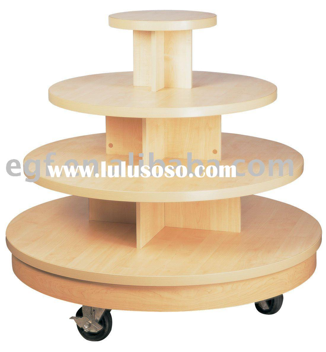 Round Table / Tiered Display Table / Wooden Table