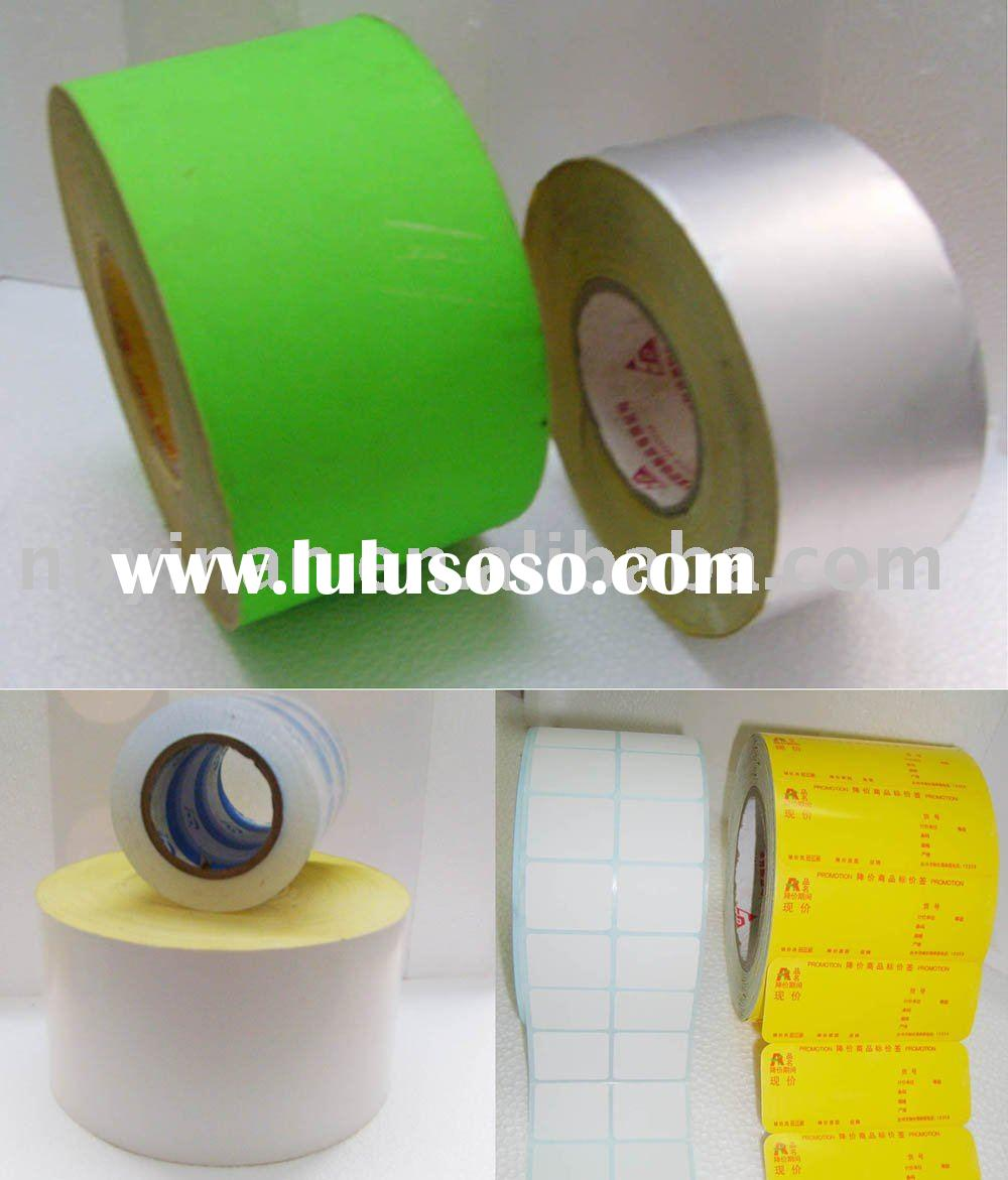 Self adhesive paper material with roll packing and Fluorescent color