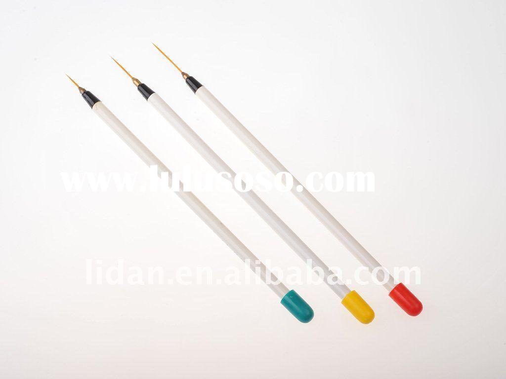 Set of 3 Sable Nail Art Brushes Pen Detailer Liner and Striper