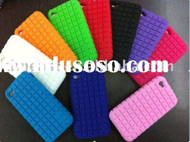 Silicon mobile phone case for iphone 4g
