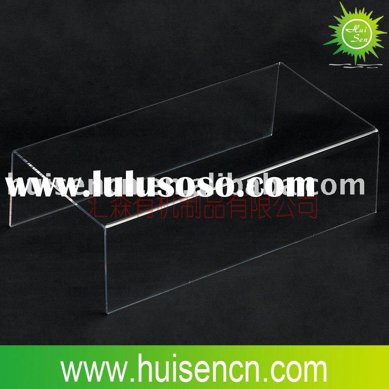 Simply-designed acrylic shoes display stand