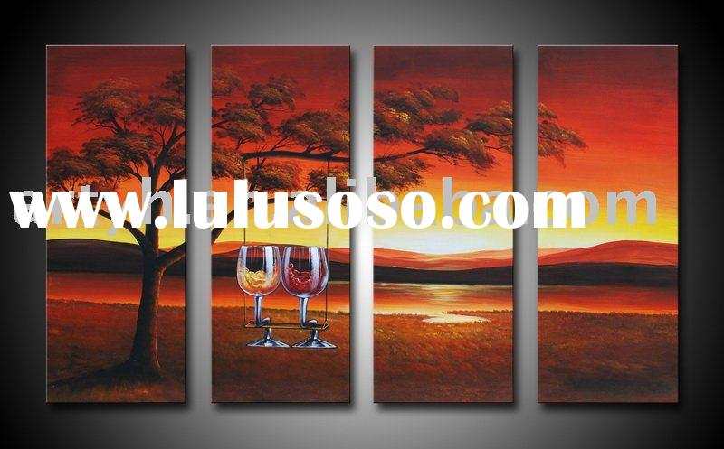 Stretched Modern Painting, Abstract Oil Painting, Decorative Paintings