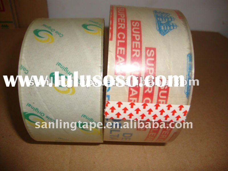 Super clear BOPP packing tape
