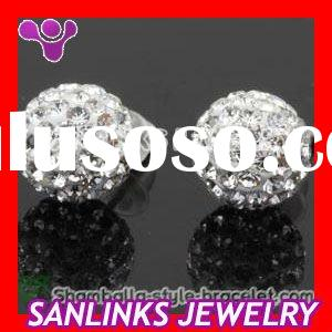 Tresor Paris Ball Stud Earrings With Swarovski Crystal Beads
