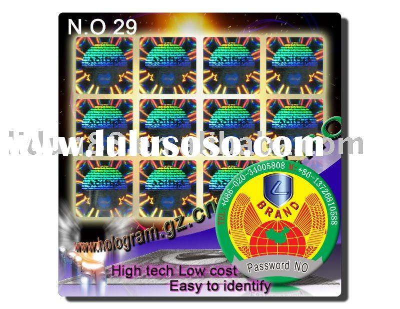 Ture 3D Hologram Labels /laser anti-fake sticker