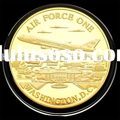 US Air Force One 24KT Gold-plated badge 4#