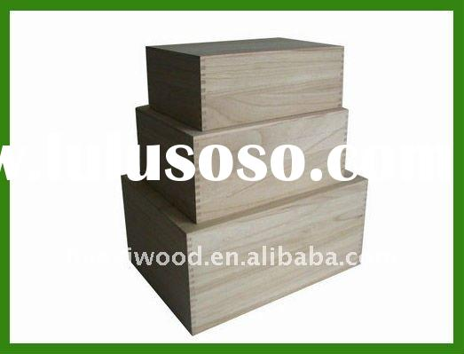 Unfinished Wood Gift Boxes, Nested Gift Boxes Wooden
