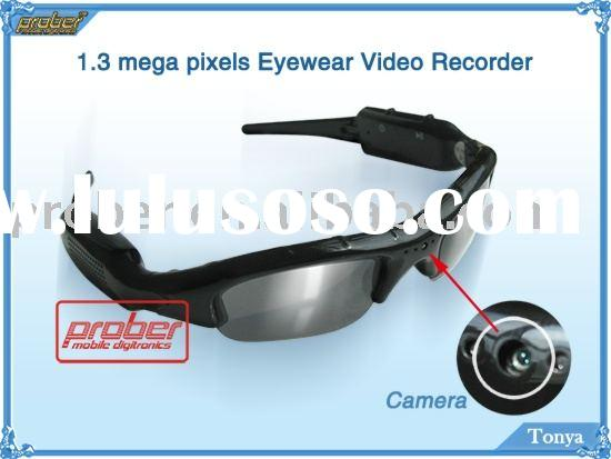 Video Camera Glasses/Camera Glasses/Video Camera/1.3 Mega Pixels Eyewear Video Recorder/Video Glasse
