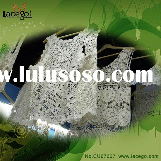 White Lace Fabric Blouses