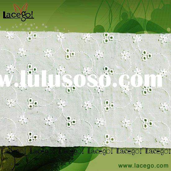 White Lace Fabric Cotton