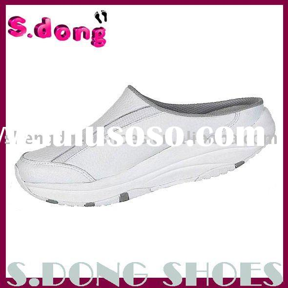 White Women's Leather Health Shoes
