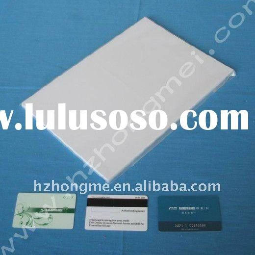 White inkjet printable pvc plastic sheet