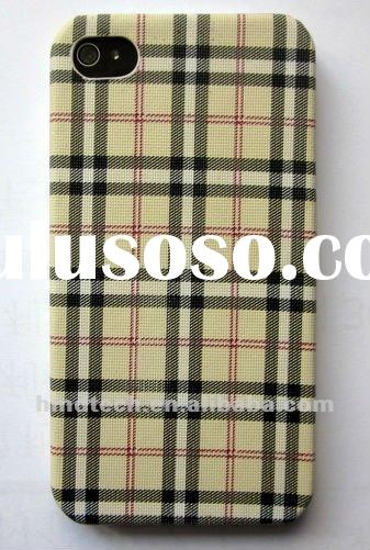 Wholesale Check Plaid Design Phone Case for iPhone 4 4S Cell phone case