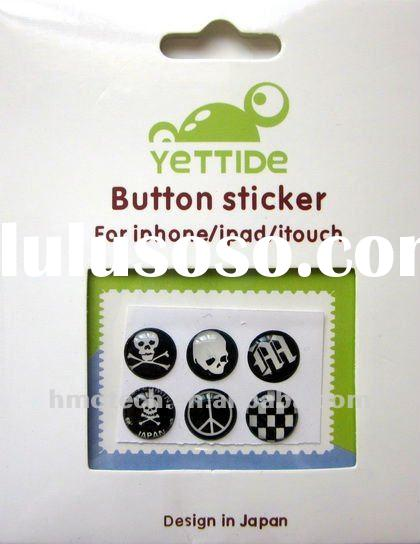 Wholesale Home Button Sticker for iPhone 4 4S Cell phone accessory