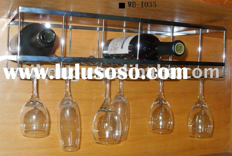 Wine Glass Rack With Bottle Holder