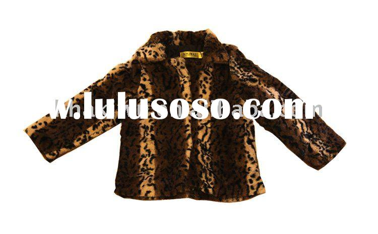 Winter Coat Leopard Faux Fur Coat Girls Coat