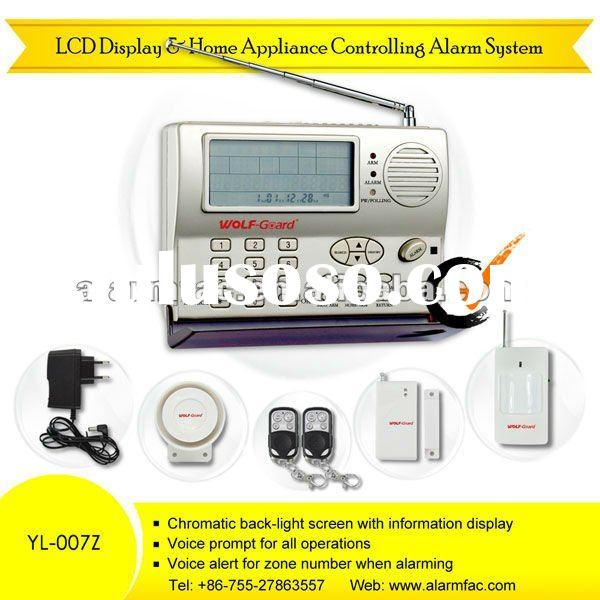 Wireless telephone line or auto dial intruder security alarm system