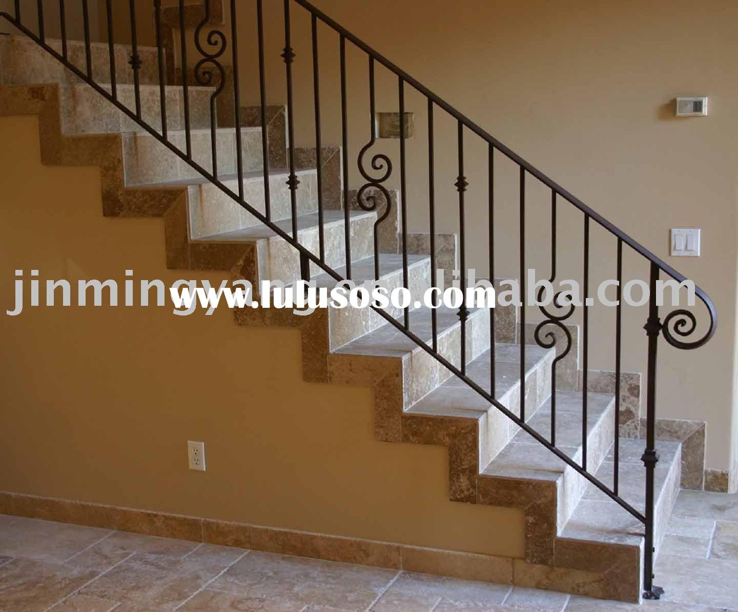 Wrought Iron Stair Handrail Metal
