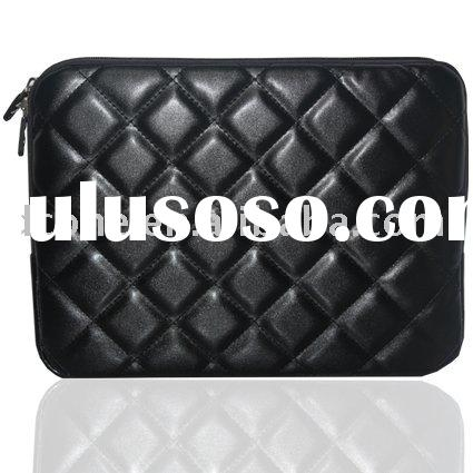 Zipper laptop sleeve(leather)/ notebook bag/ laptop soft case
