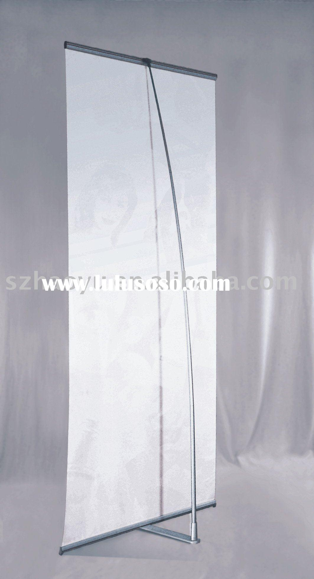 """""""B"""" shaped aluminum pole l stand, l banner,banner stand ,trade show display"""