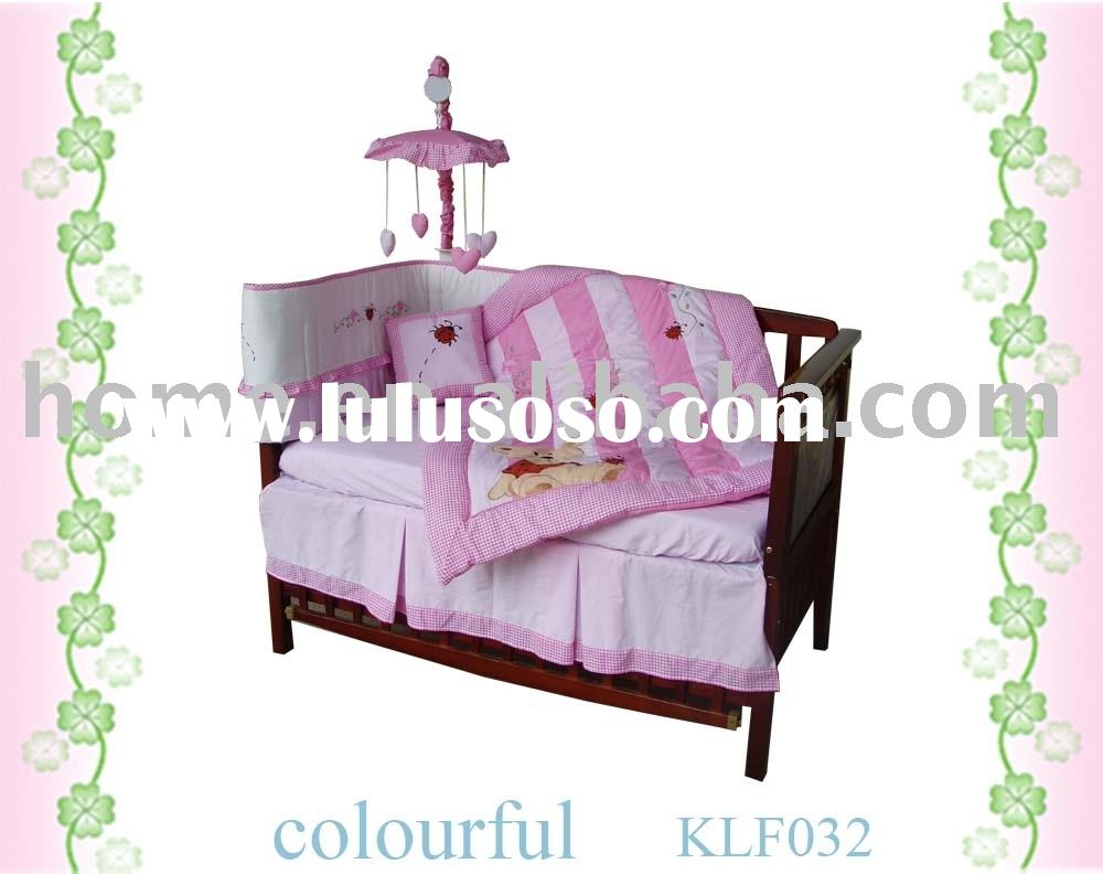 baby crib bedding set for girl