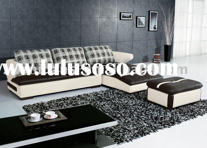 black and white leather sofa of cheap sectional sofa