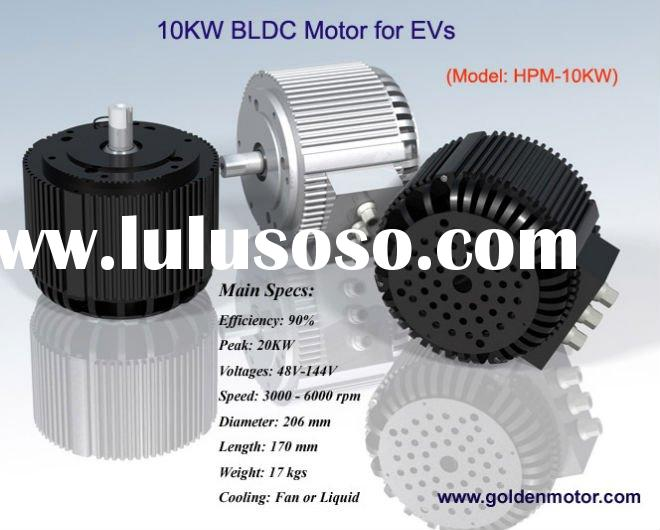 brushless dc motor 10kw to 20kw 48V to 144V high pwoer and high efficiency