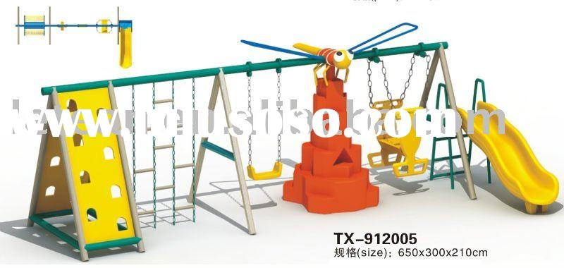 children plastic swing with slide,kids toy,outdoor playground equipment