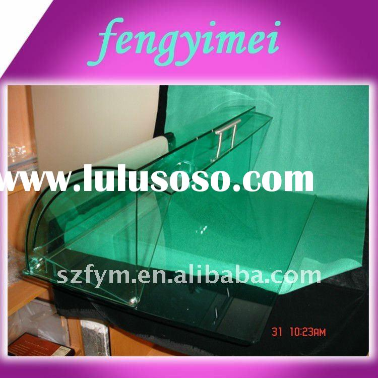 clear acrylic bakery display case/transparent plexiglass bread display case/acrylic display case FYM