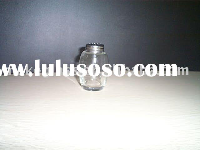 clear glass bottle with needle hole lid