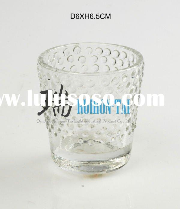 clear glass containers for candles