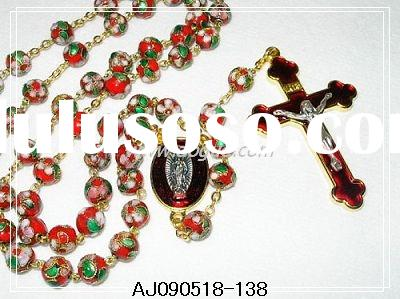 cloisonne rosary beads