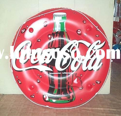 coca cola island/inflatable float/water-fun/floating island