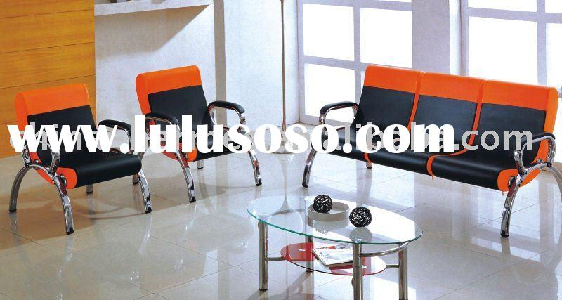 comfortable office leather sofa chair,stainless steel office sofa,good quality office furniture