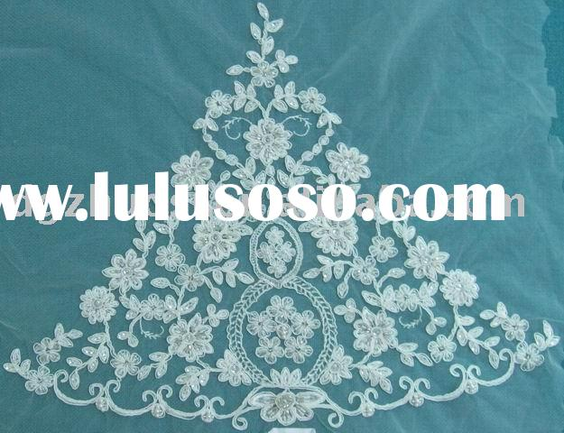embroidery designs lace flower in dress