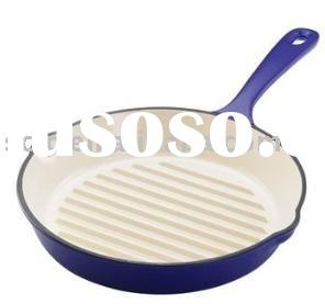 enamel cast iron fry pan