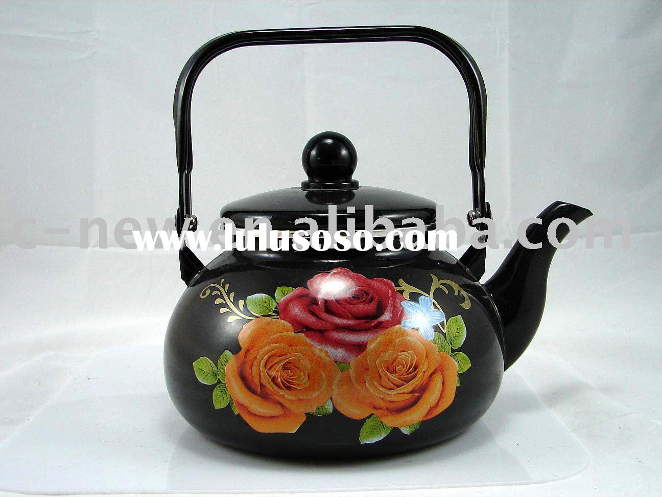 enamelware,tea kettle,whistling kettle