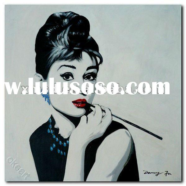 famous star figure painting Audrey Hepburn modern pop art